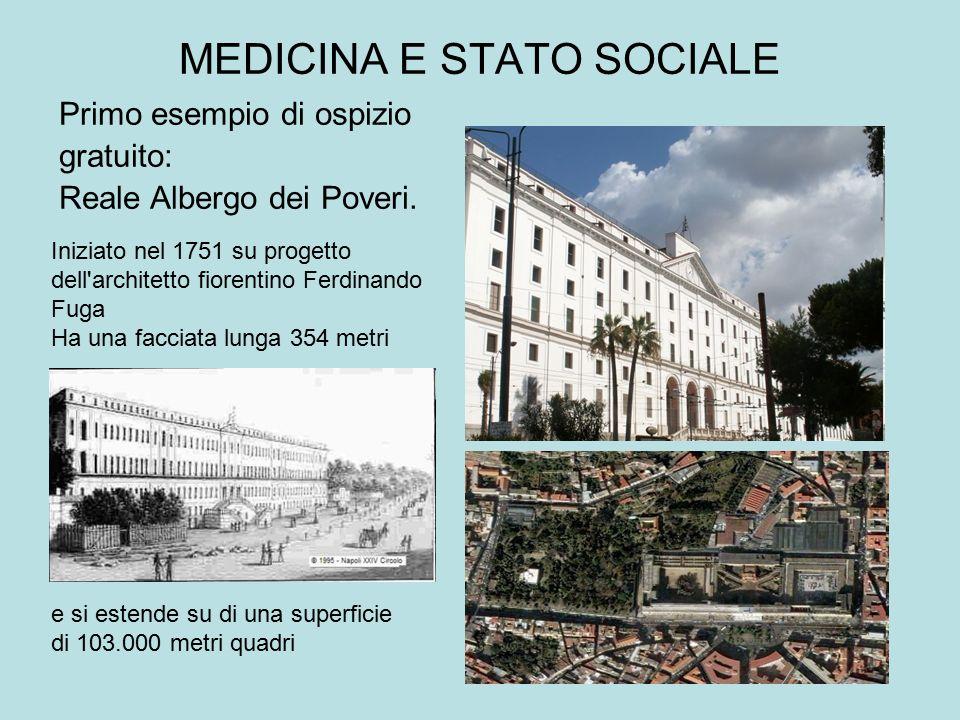 MEDICINA E STATO SOCIALE e si estende su di una superficie di 103.000 metri quadri Iniziato nel 1751 su progetto dell'architetto fiorentino Ferdinando