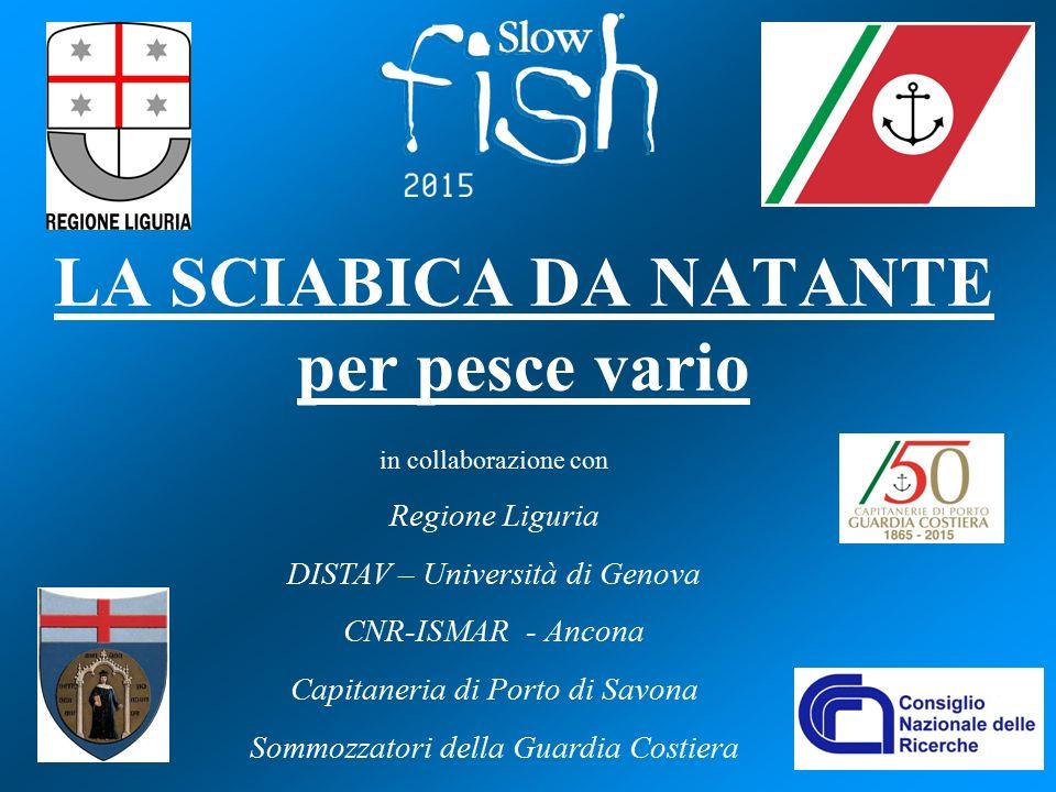 LA SCIABICA DA NATANTE per pesce vario in collaborazione con Regione Liguria DISTAV – Università di Genova CNR-ISMAR - Ancona Capitaneria di Porto di