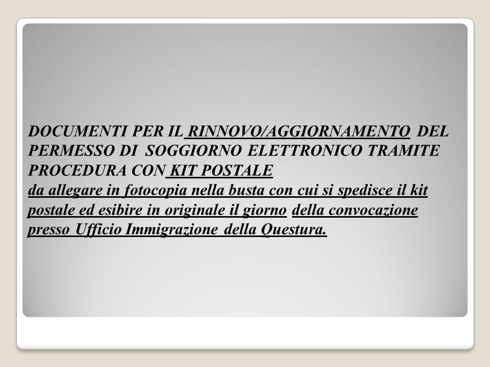 P) RILASCIO DOCUMENTO DI VIAGGIO (in caso di asilo politico-protezione internazionale) 1.marca concessione governativa da euro 40.29; 2.
