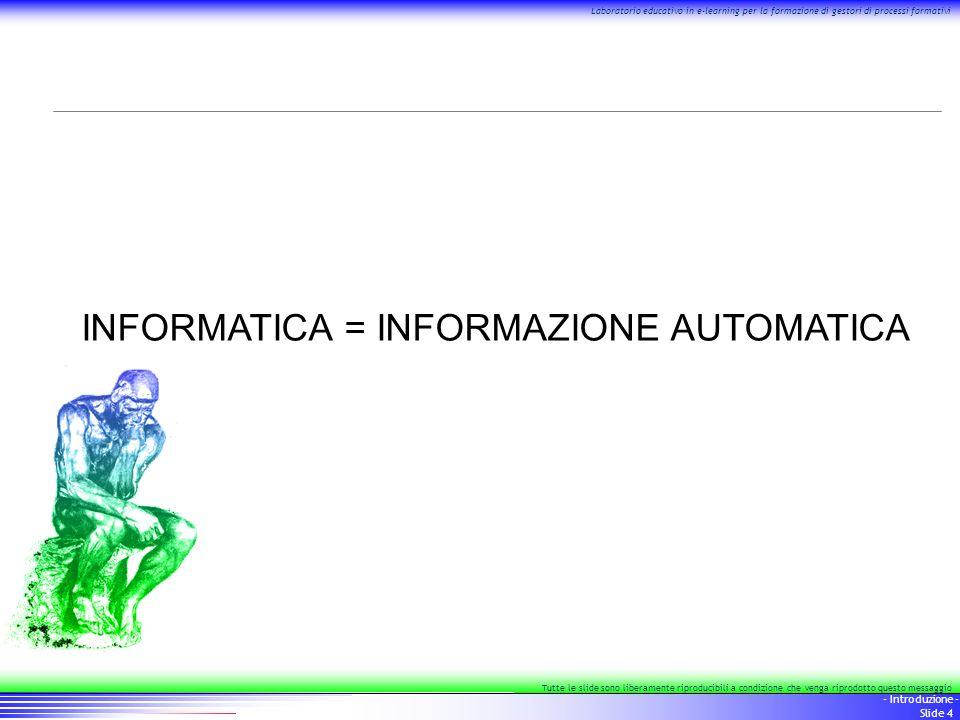 15 - Introduzione - Slide 15 Laboratorio educativo in e-learning per la formazione di gestori di processi formativi Tutte le slide sono liberamente riproducibili a condizione che venga riprodotto questo messaggio Il percorso, 3/3 standard per la FAD: calendarizzazione