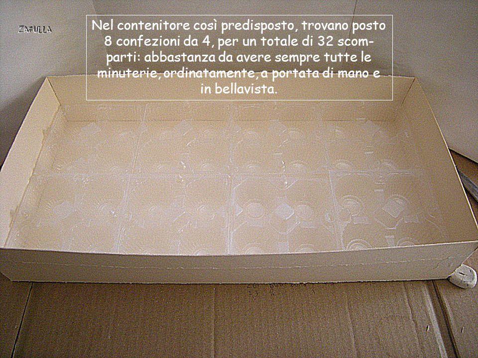 Ora non resta che fermare gli angoli con l'aiuto di un nastro adesivo e il contenitore è pronto;
