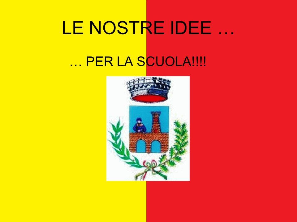 LE NOSTRE IDEE … … PER LA SCUOLA!!!!