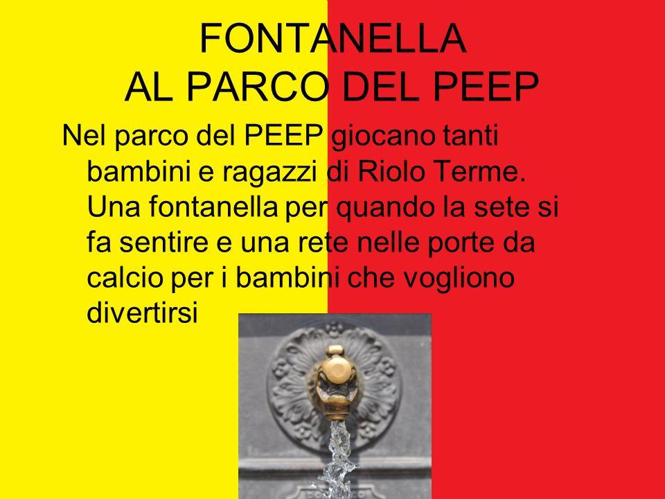 FONTANELLA AL PARCO DEL PEEP Nel parco del PEEP giocano tanti bambini e ragazzi di Riolo Terme.