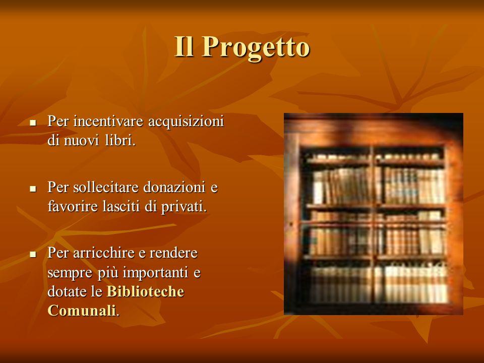 Il Progetto Per incentivare acquisizioni di nuovi libri.