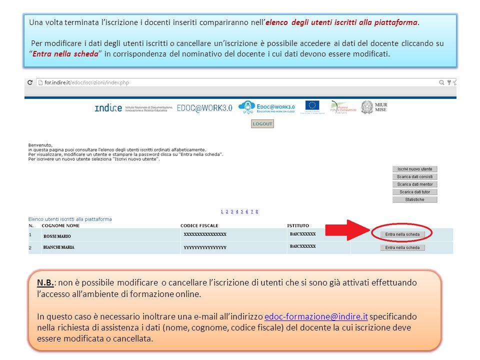 Una volta iscritti alla formazione i docenti possono recuperare le proprie credenziali di accesso (Nome utente e Password) collegandosi alla pagina di login: http://for.indire.it/edoc/ e cliccando su Recupera le tue credenziali di accesso .