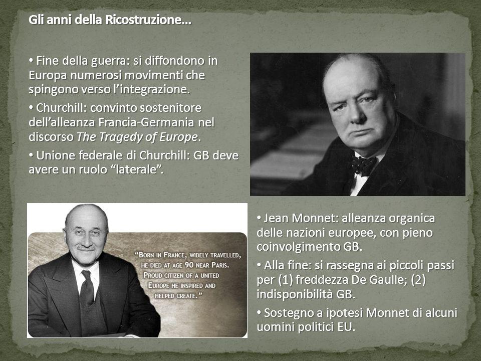 Gli anni della Ricostruzione: il sostegno al disegno di Monnet… Alcide De Gasperi, Robert Schuman e Konrad Adenauer: tre uomini politici con molti tratti in comune.