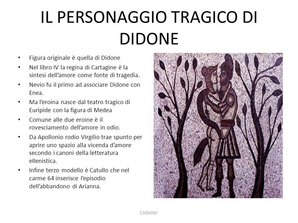 IL PERSONAGGIO TRAGICO DI DIDONE Figura originale è quella di Didone Nel libro IV la regina di Cartagine è la sintesi dell'amore come fonte di tragedi