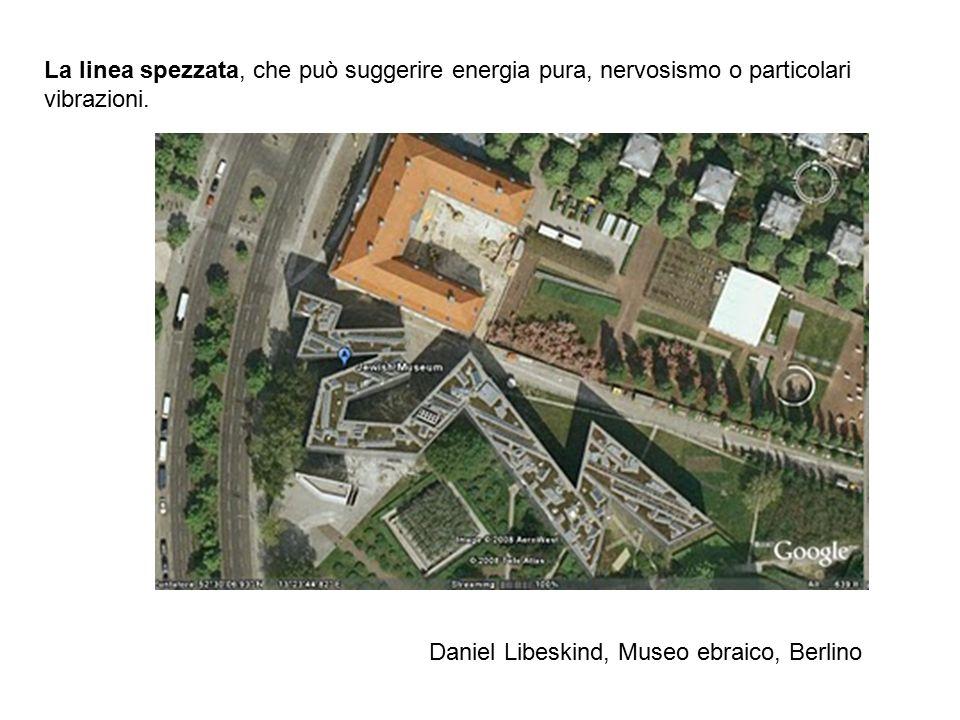 La linea spezzata, che può suggerire energia pura, nervosismo o particolari vibrazioni. Daniel Libeskind, Museo ebraico, Berlino