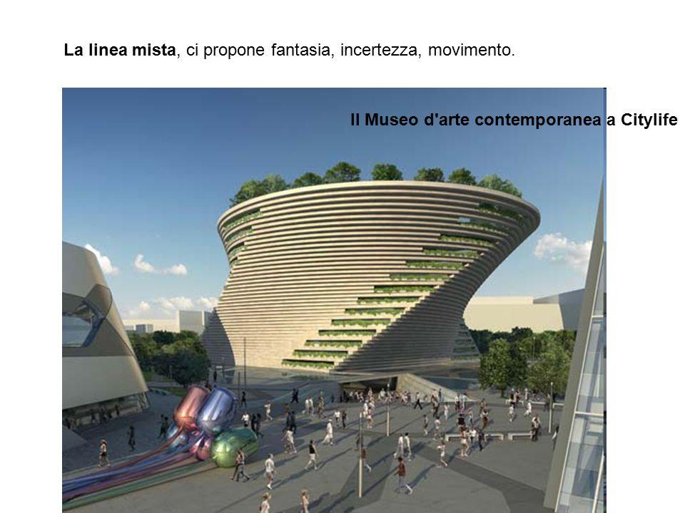 La linea mista, ci propone fantasia, incertezza, movimento. Il Museo d'arte contemporanea a Citylife