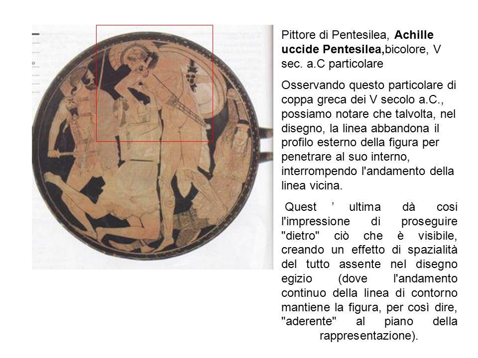 Pittore di Pentesilea, Achille uccide Pentesilea,bicolore, V sec. a.C particolare Osservando questo particolare di coppa greca dei V secolo a.C., poss