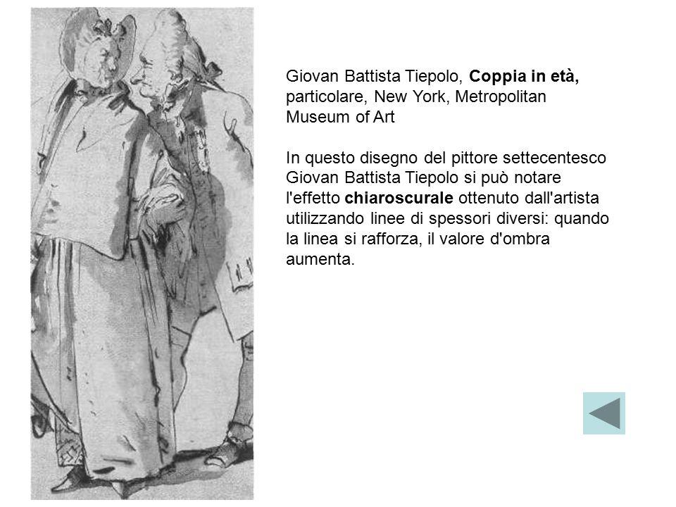 Giovan Battista Tiepolo, Coppia in età, particolare, New York, Metropolitan Museum of Art In questo disegno del pittore settecentesco Giovan Battista