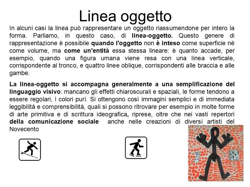 In alcuni casi la linea può rappresentare un oggetto riassumendone per intero la forma. Parliamo, in questo caso, di linea-oggetto. Questo genere di r