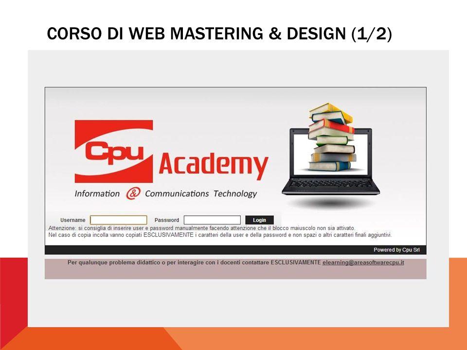 CORSO DI WEB MASTERING & DESIGN (1/2)