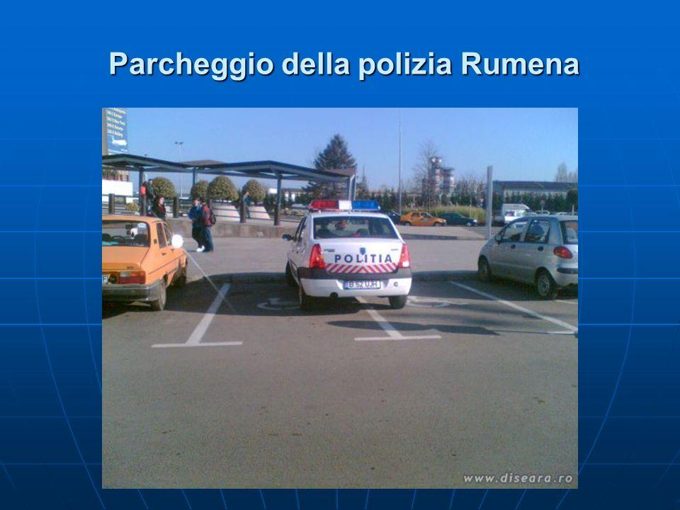 Parcheggio della polizia Rumena Parcheggio della polizia Rumena