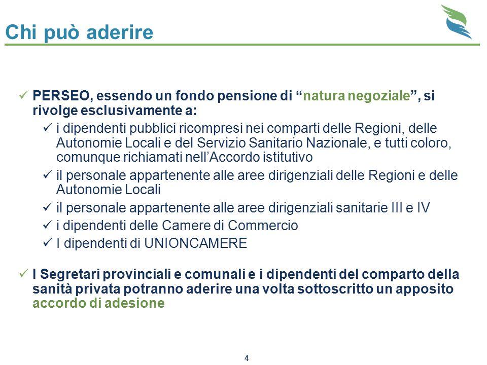 """4 Chi può aderire PERSEO, essendo un fondo pensione di """"natura negoziale"""", si rivolge esclusivamente a: i dipendenti pubblici ricompresi nei comparti"""