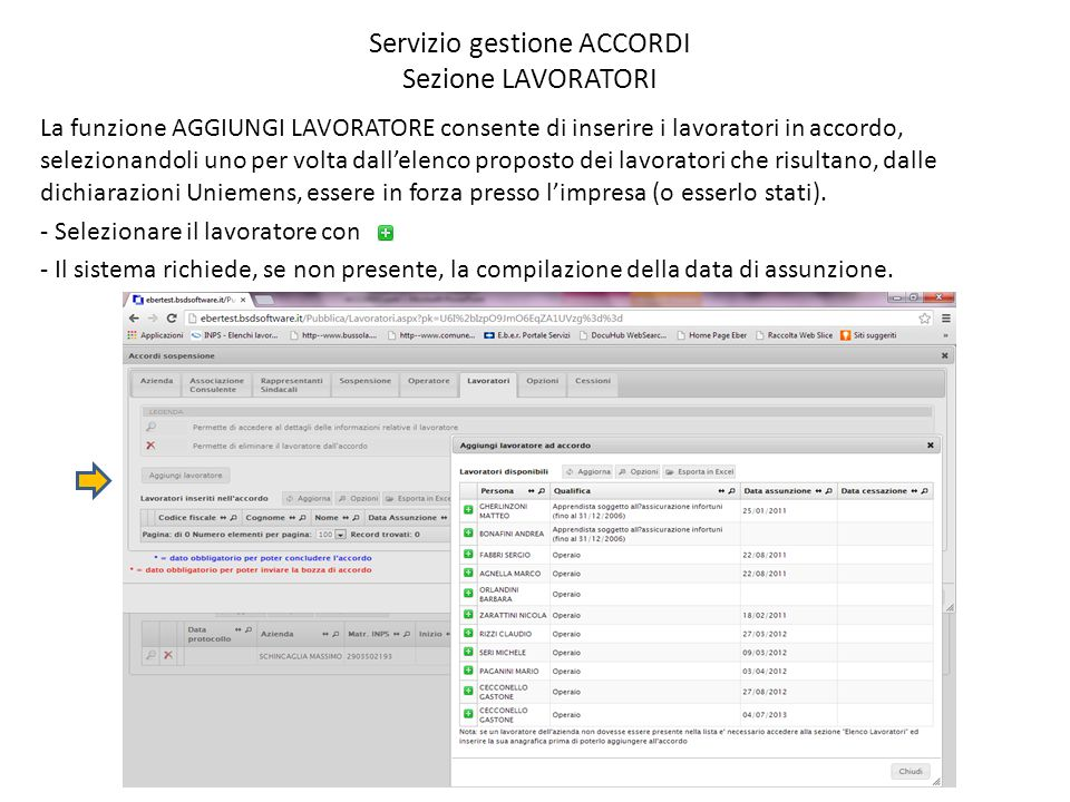 Servizio gestione ACCORDI Sezione LAVORATORI – 1) DATI PERSONA Le informazioni da compilare sono organizzate in quattro sezioni.
