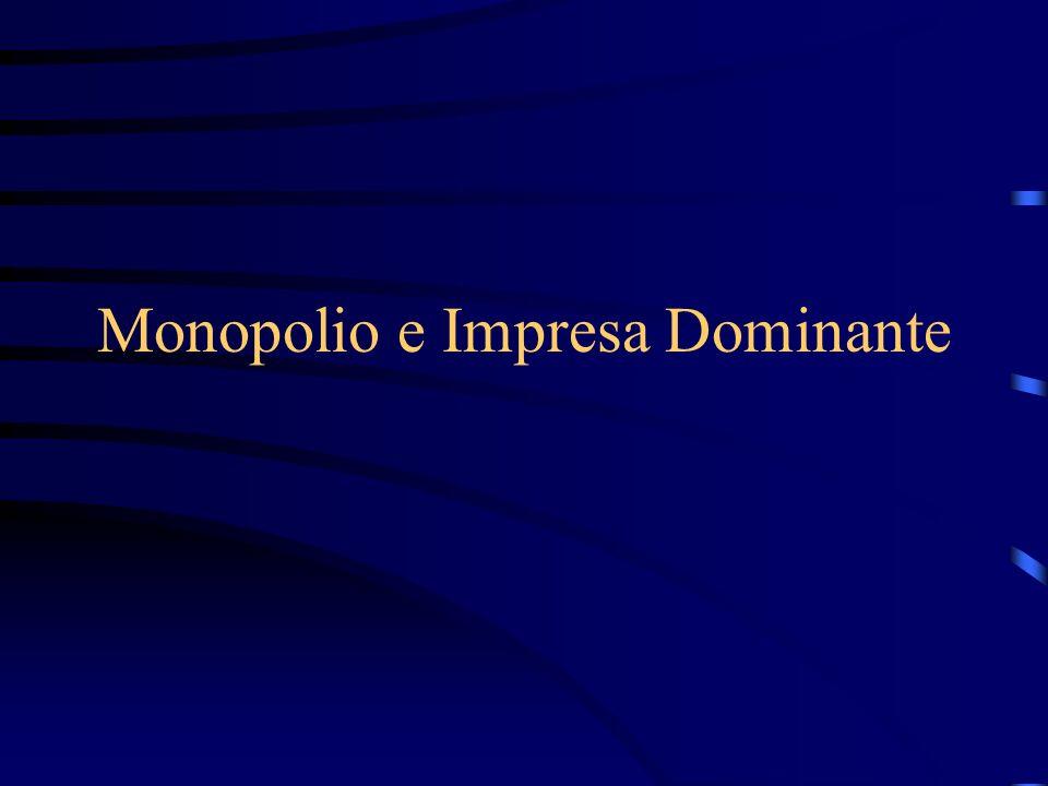 Monopolio e elasticità della domanda S D P 30 25 20 15 10 5 0 2030 Q Pm Qm Qm' Pm' DWL