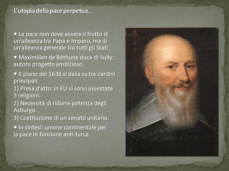 La pace non deve essere il frutto di un'alleanza tra Papa e Impero, ma di un'alleanza generale tra tutti gli Stati.