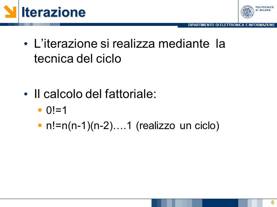 DIPARTIMENTO DI ELETTRONICA E INFORMAZIONE IL MCD Iterativo: function [M]=MCDeuclid(m,n) while m ~= n if m>n m=m-n; else n=n-m; end M=m; 27