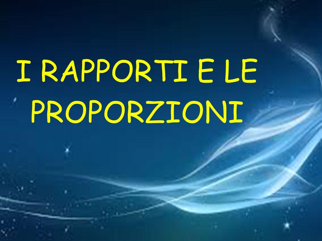 IN MATEMATICA la parola RAPPORTO indica un QUOZIENTE Perciò puo essere indicato come: - una DIVISIONE 9:6 (il rapporto è di 9 A 6) - una FRAZIONE 9/6 (il rapporto è di 9 sesti) - un NUMERO naturale o decimale 1,5 (il rapporto è di 1,5)
