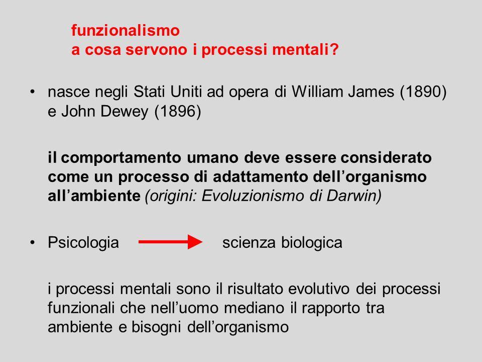 nasce negli Stati Uniti ad opera di William James (1890) e John Dewey (1896) il comportamento umano deve essere considerato come un processo di adatta