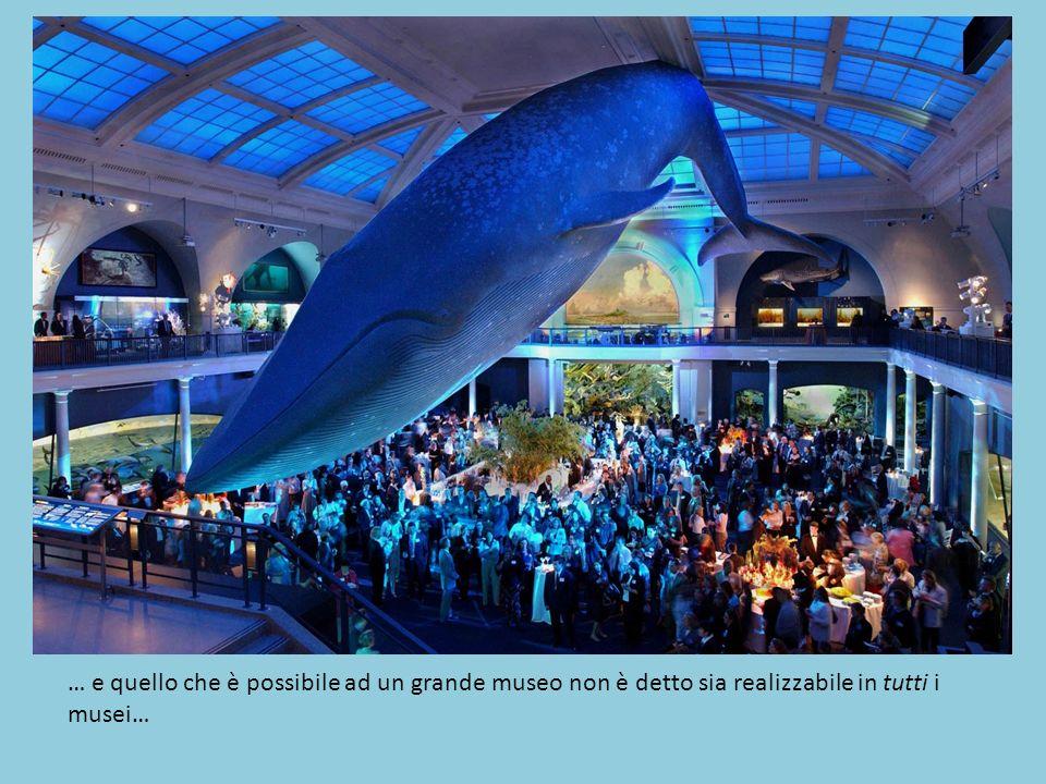 … e quello che è possibile ad un grande museo non è detto sia realizzabile in tutti i musei…