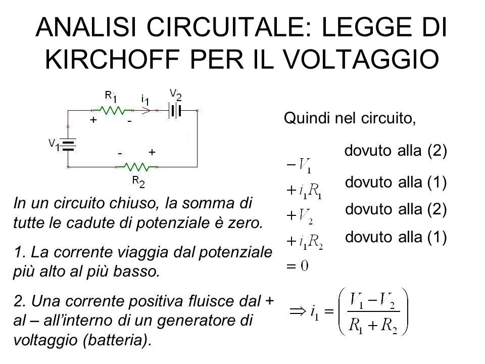 Divisore di tensione (voltage divider) La tensione di uscita sarà sempre inferiore o al massimo uguale ( R 1 = 0 ) a quella di ingresso.