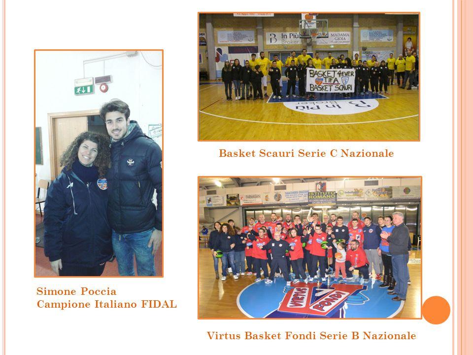Simone Poccia Campione Italiano FIDAL Basket Scauri Serie C Nazionale Virtus Basket Fondi Serie B Nazionale