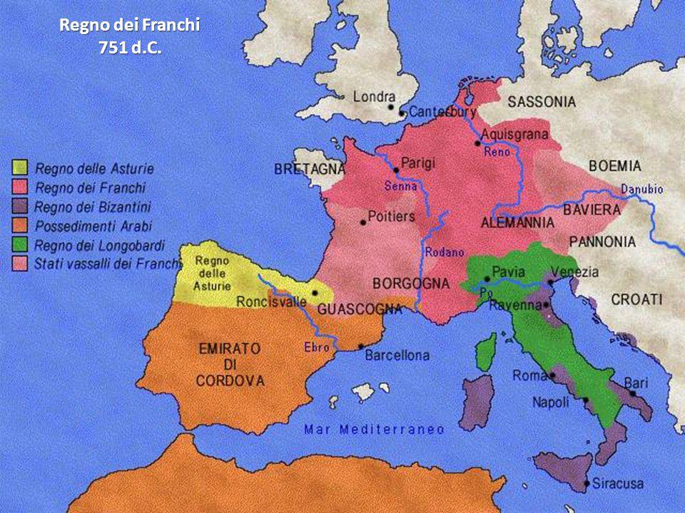 Regno dei Franchi 751 d.C.