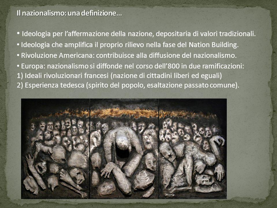 Ideologia per l'affermazione della nazione, depositaria di valori tradizionali. Ideologia che amplifica il proprio rilievo nella fase del Nation Build