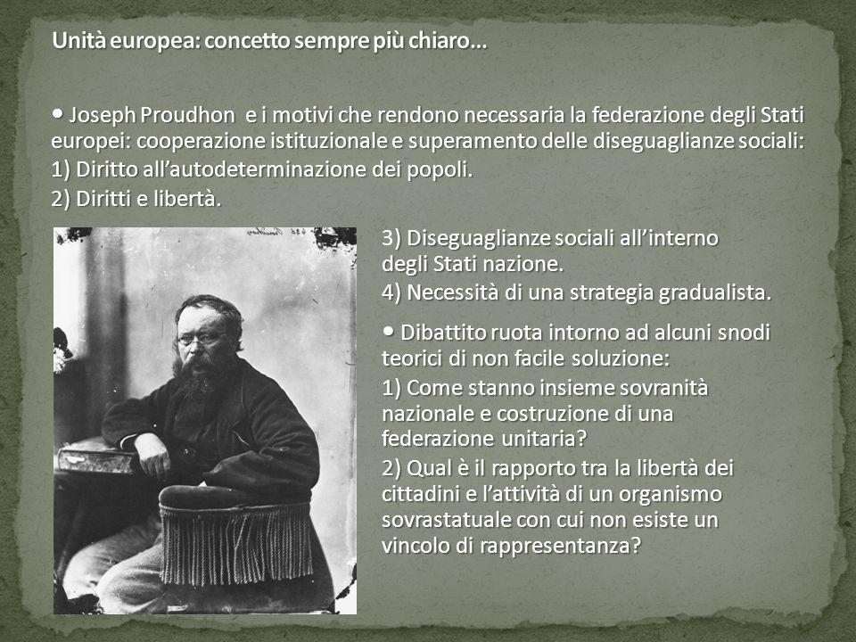 Joseph Proudhon e i motivi che rendono necessaria la federazione degli Stati europei: cooperazione istituzionale e superamento delle diseguaglianze so