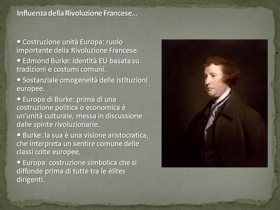Costruzione unità Europa: ruolo importante della Rivoluzione Francese. Costruzione unità Europa: ruolo importante della Rivoluzione Francese. Edmond B