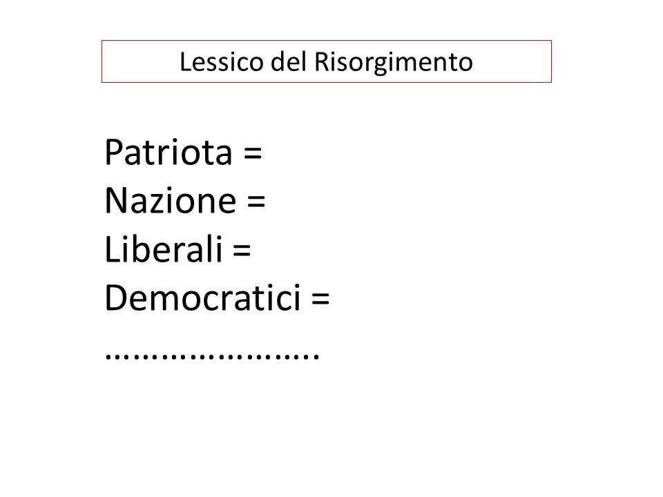 La prima fase del Risorgimento si dice di pochi e costituzionalista I suoi scopi sono quelli di: ottenere una costituzione elargita da un monarca restaurato con i seguenti mezzi: 1.
