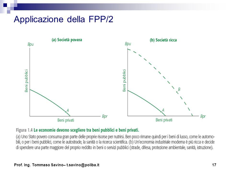 17 Applicazione della FPP/2 Prof. Ing. Tommaso Savino– t.savino@poliba.it