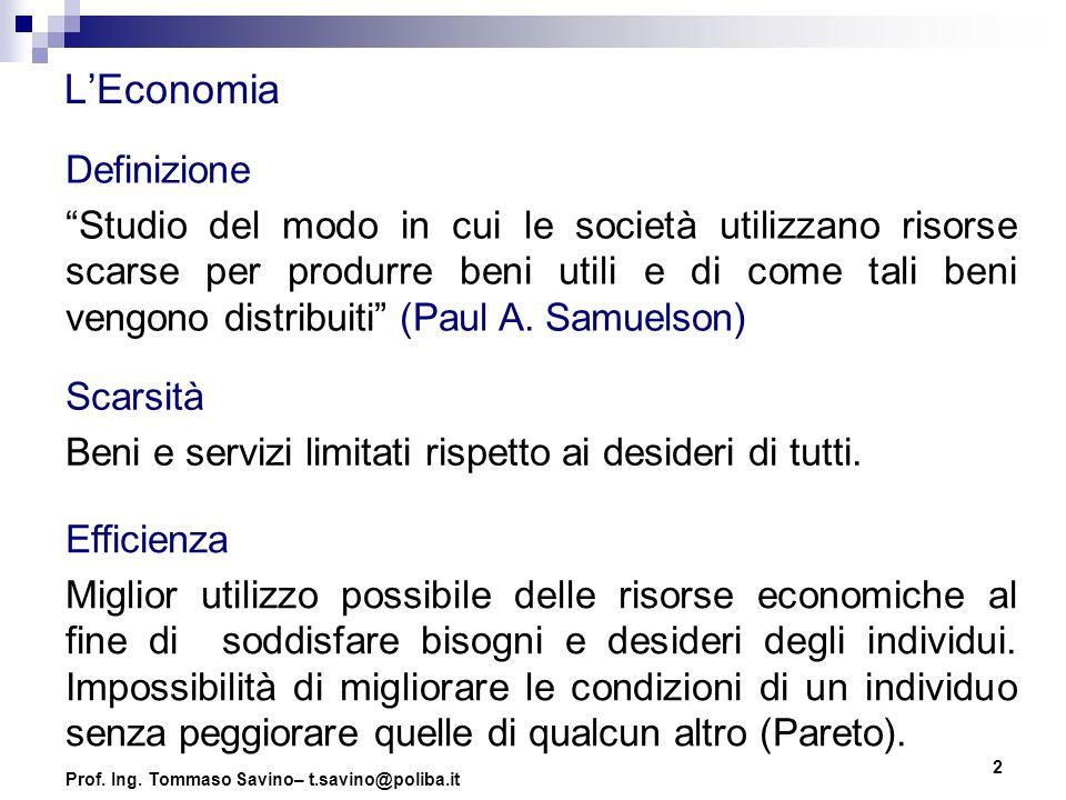 3 Microeconomia Definizione (A.