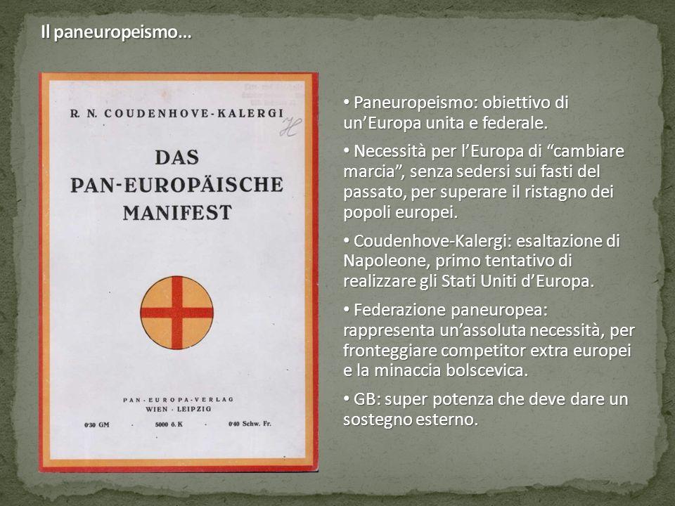 Paneuropeismo: obiettivo di un'Europa unita e federale.