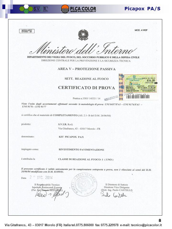 © Il contenuto del presente documento è proprietà di Picacolor.