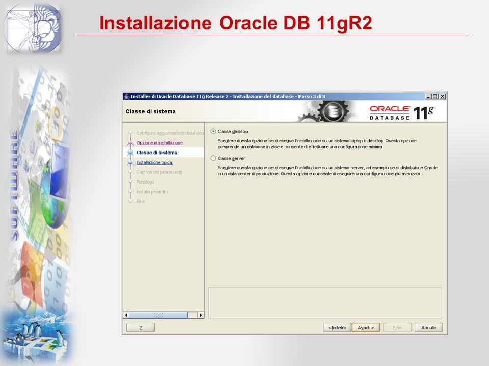 Installazione Oracle DB 11gR2