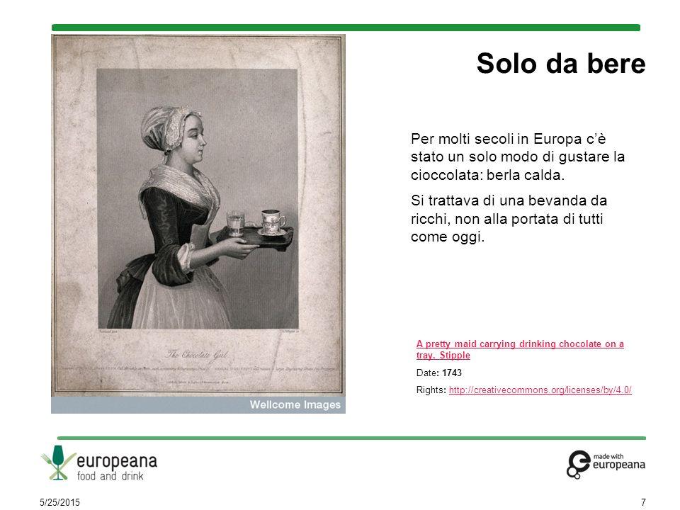 Per molti secoli in Europa c'è stato un solo modo di gustare la cioccolata: berla calda. Si trattava di una bevanda da ricchi, non alla portata di tut