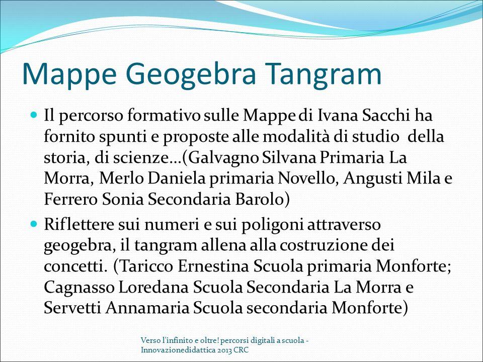 Mappe Geogebra Tangram Il percorso formativo sulle Mappe di Ivana Sacchi ha fornito spunti e proposte alle modalità di studio della storia, di scienze