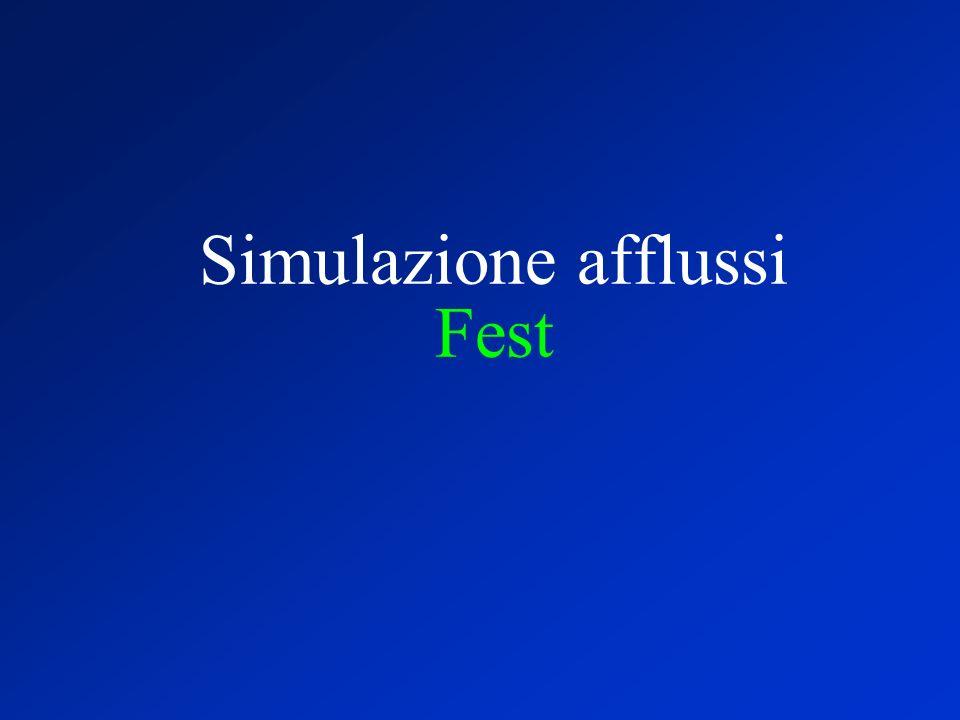 Simulazione afflussi Fest