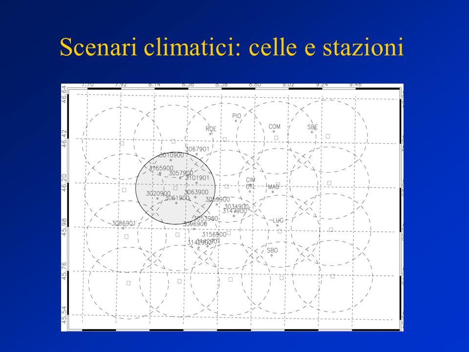 Scenari climatici: celle e stazioni