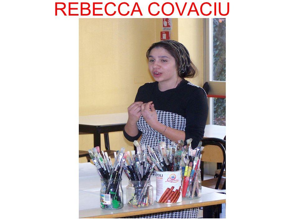 Rebecca si esprime attraverso i disegni.
