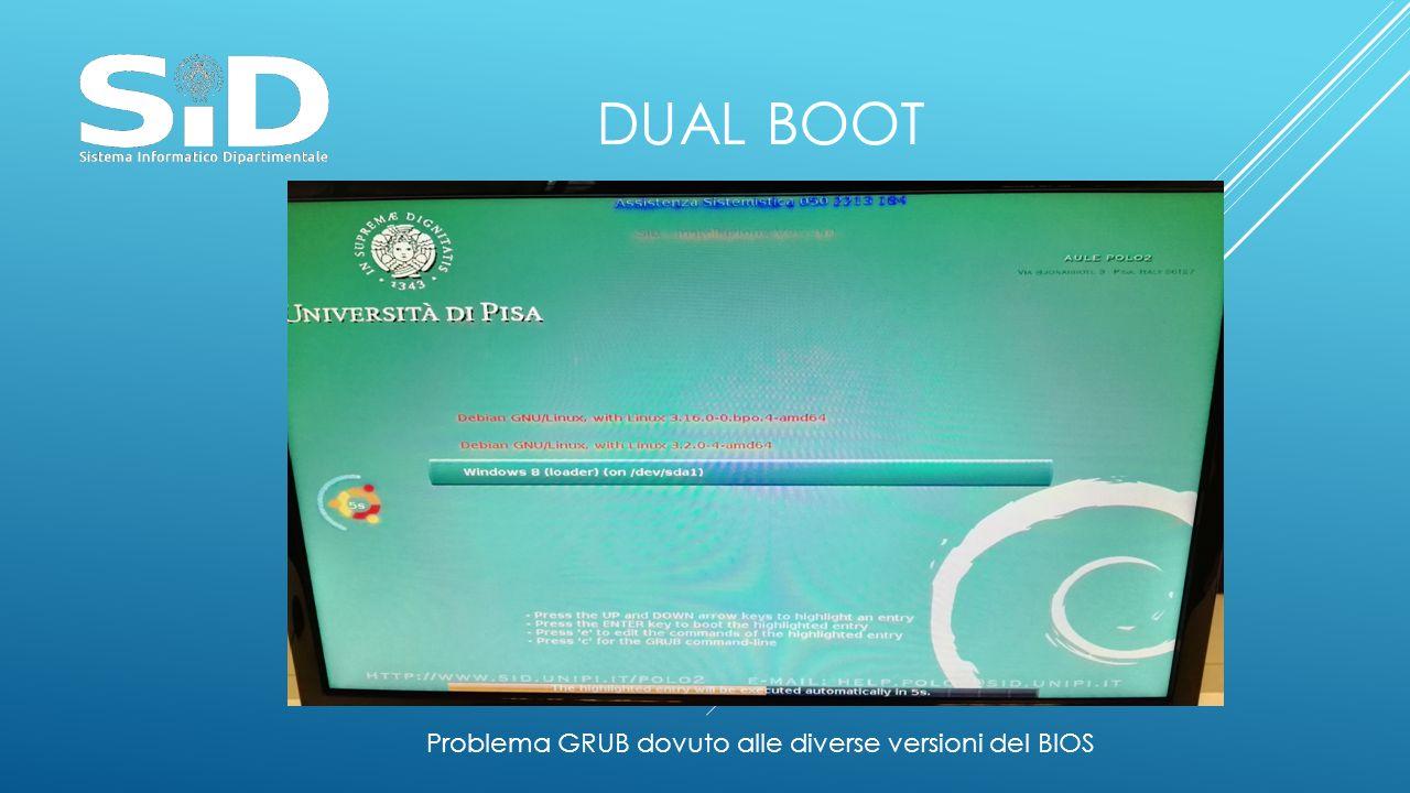 DUAL BOOT Problema GRUB dovuto alle diverse versioni del BIOS