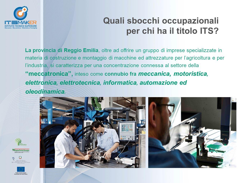 Quali sbocchi occupazionali per chi ha il titolo ITS? La provincia di Reggio Emilia, oltre ad offrire un gruppo di imprese specializzate in materia di