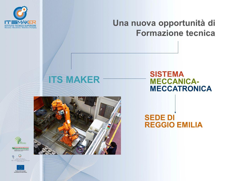 Una nuova opportunità di Formazione tecnica ITS MAKER SISTEMA MECCANICA- MECCATRONICA SEDE DI REGGIO EMILIA