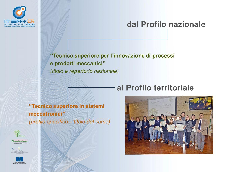 dal Profilo nazionale ''Tecnico superiore per l'innovazione di processi e prodotti meccanici'' (titolo e repertorio nazionale) ''Tecnico superiore in sistemi meccatronici'' (profilo specifico – titolo del corso) al Profilo territoriale