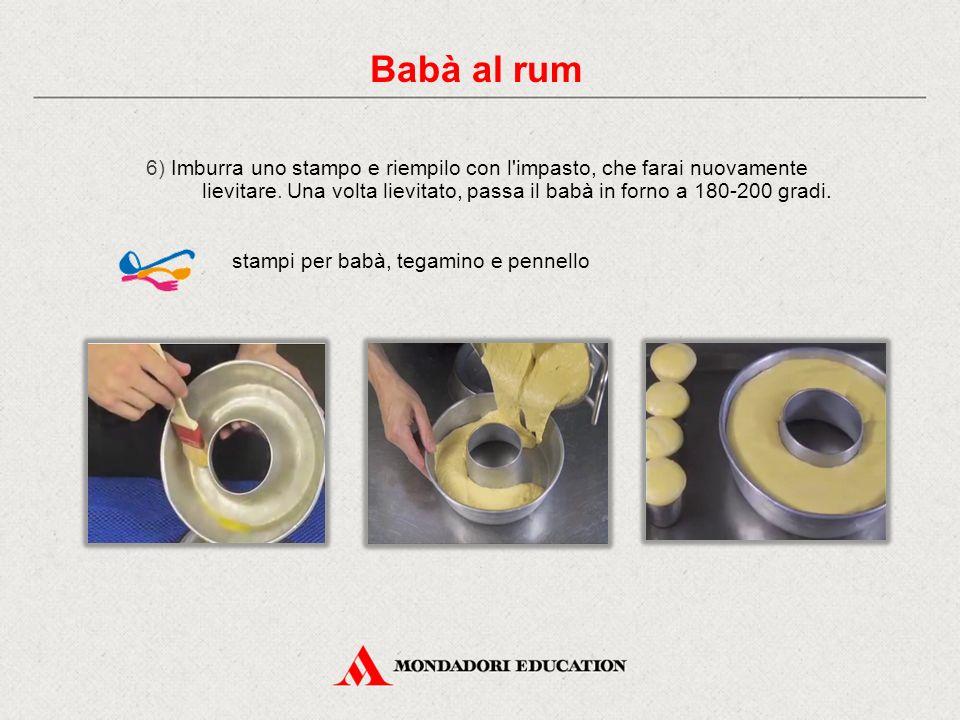 6) Imburra uno stampo e riempilo con l impasto, che farai nuovamente lievitare.