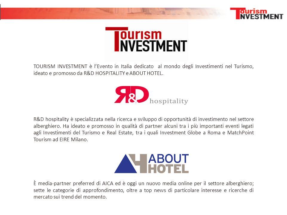 R&D hospitality è specializzata nella ricerca e sviluppo di opportunità di investimento nel settore alberghiero. Ha ideato e promosso in qualità di pa