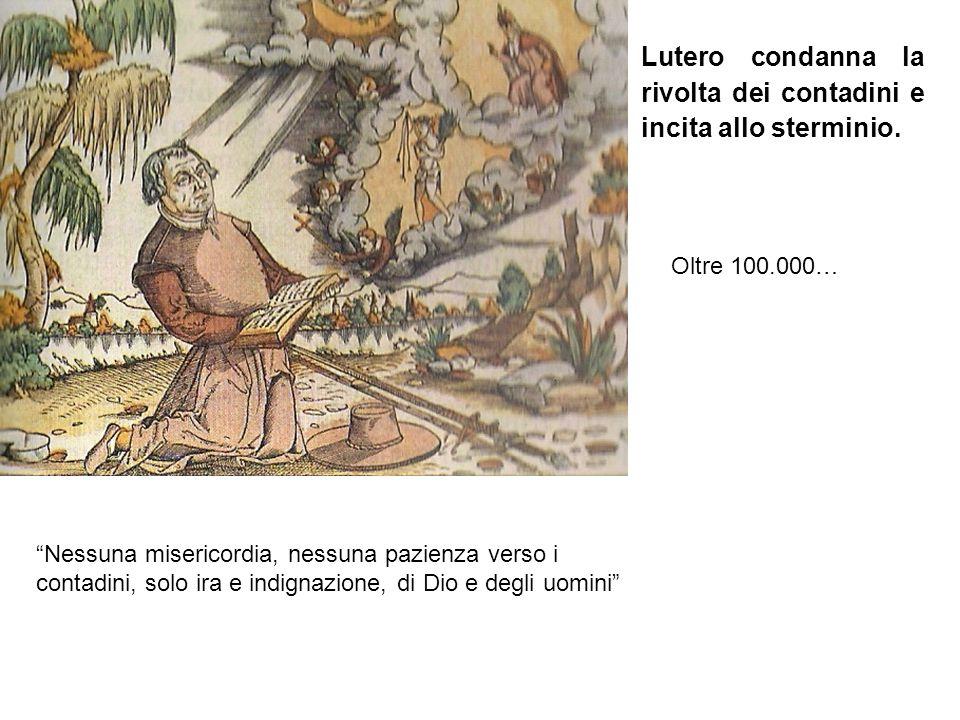 """""""Nessuna misericordia, nessuna pazienza verso i contadini, solo ira e indignazione, di Dio e degli uomini"""" Lutero condanna la rivolta dei contadini e"""